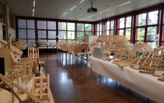 Modellwettbewerb 2019 GBZ Weinfelden: Gesamtansicht Exponate l Krattiger Holzbau AG Amriswil
