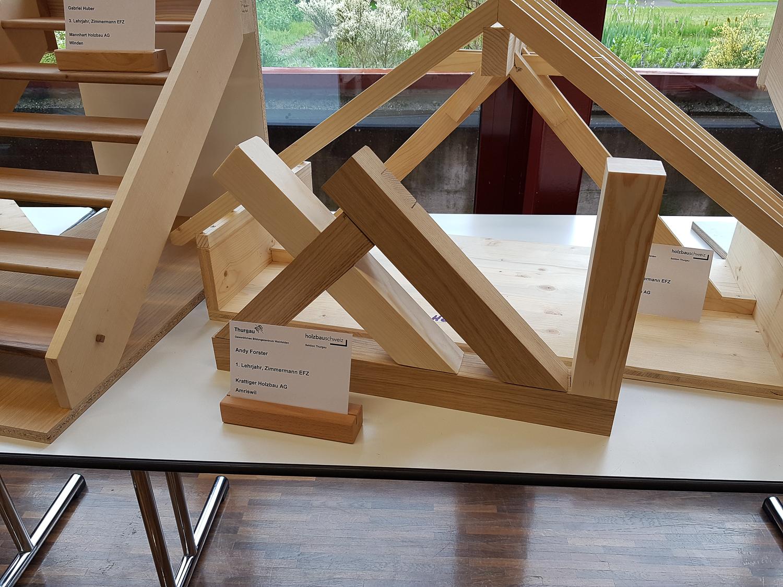 Modellwettbewerb 2019 GBZ Weinfelden: Modell «Verbindungen» von Andy Forster l Krattiger Holzbau AG Amriswil