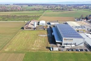 Passende Baulandparzelle «Schwarzland»: Produktionshalle und Modulhalle (im Bau) | Krattiger Holzbau AG Amriswil