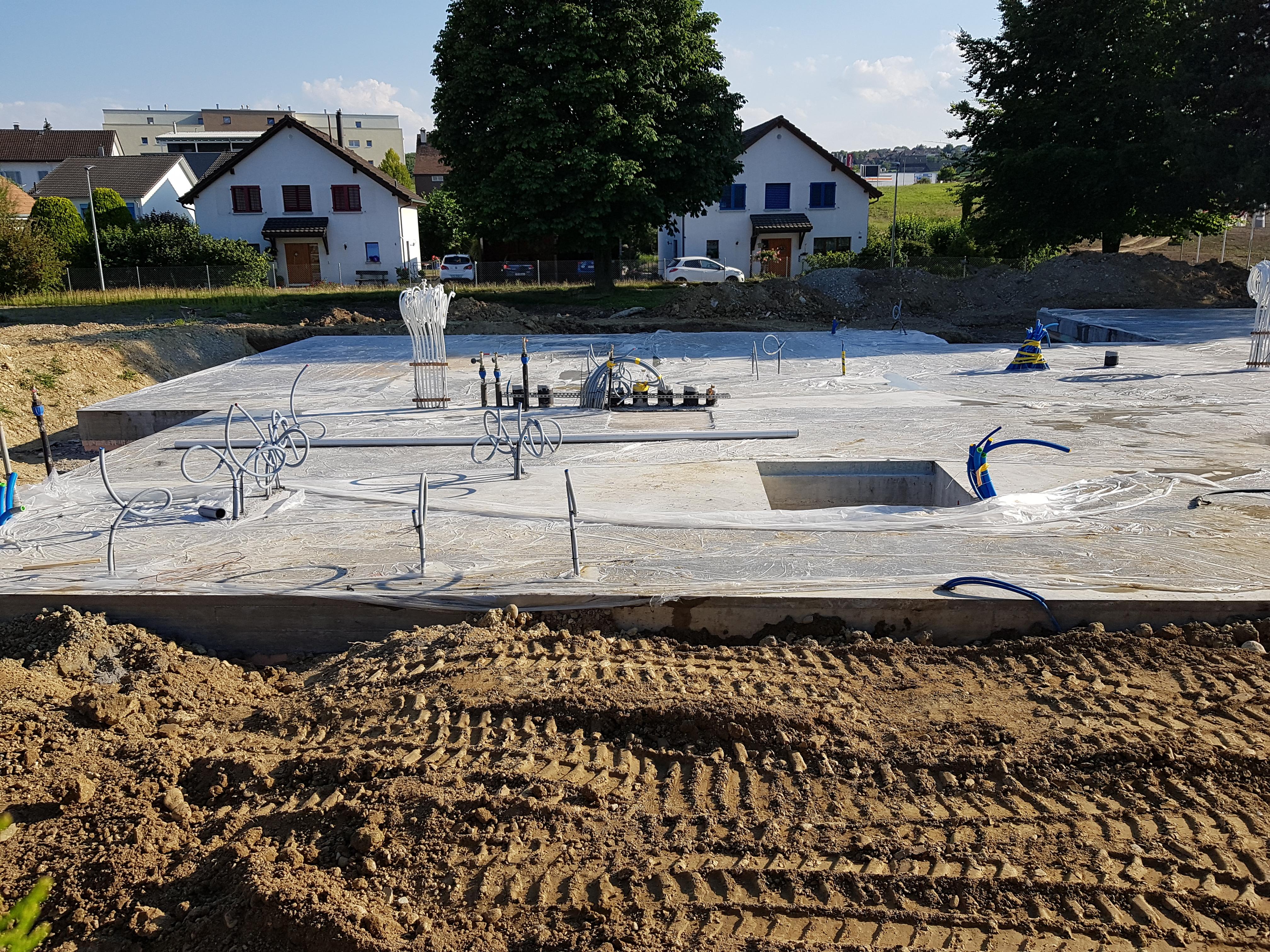 Kindergarten Mühlebach Amriswil: Bodenplatte aus Beton l Krattiger Holzbau AG Amriswil