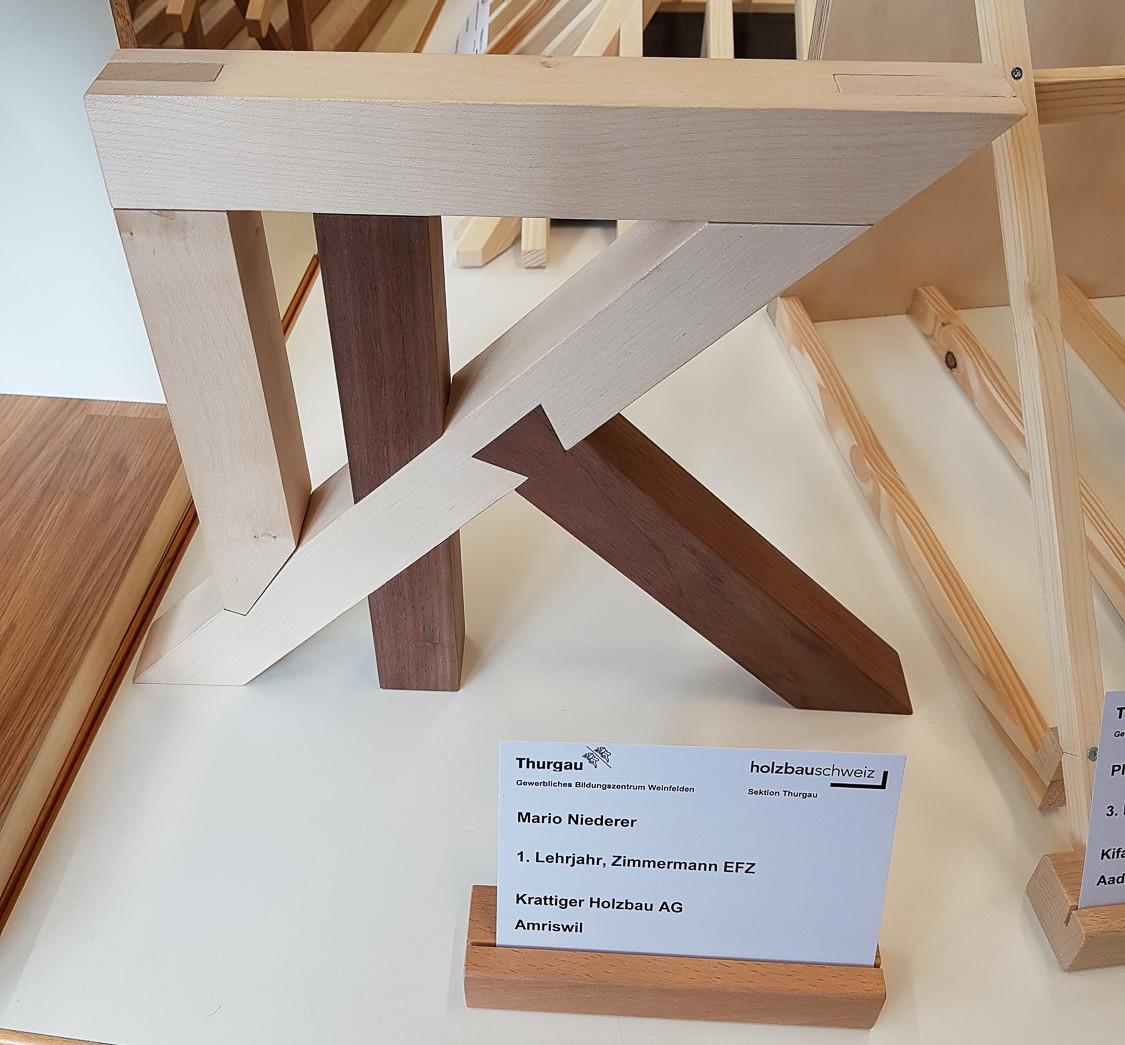 Modellwettbewerb 2019 GBZ Weinfelden: Modell «Verbindungen» von Mario Niederer l Krattiger Holzbau AG Amriswil