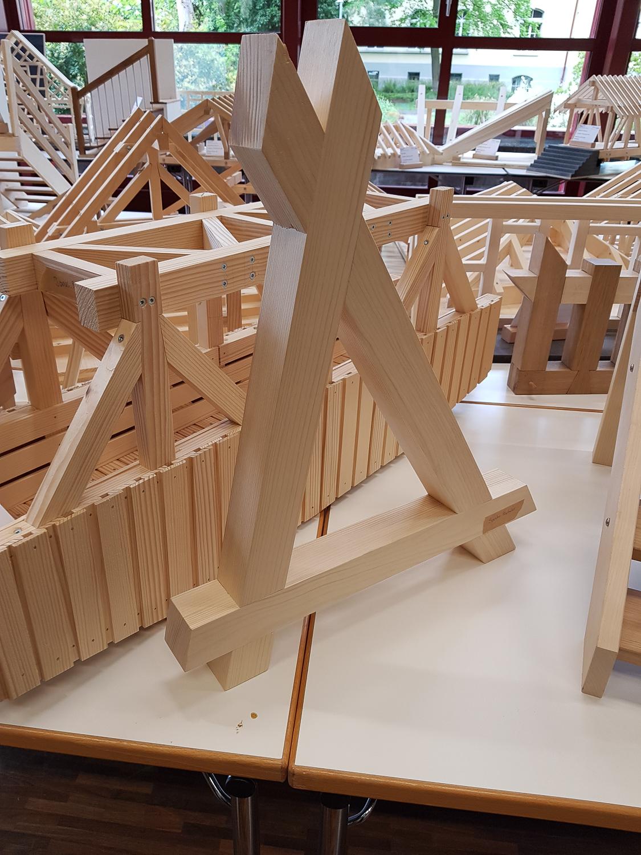 Modellwettbewerb 2019 GBZ Weinfelden: Modell «Verbindungen» von Sandro Bücheler l Krattiger Holzbau AG Amriswil