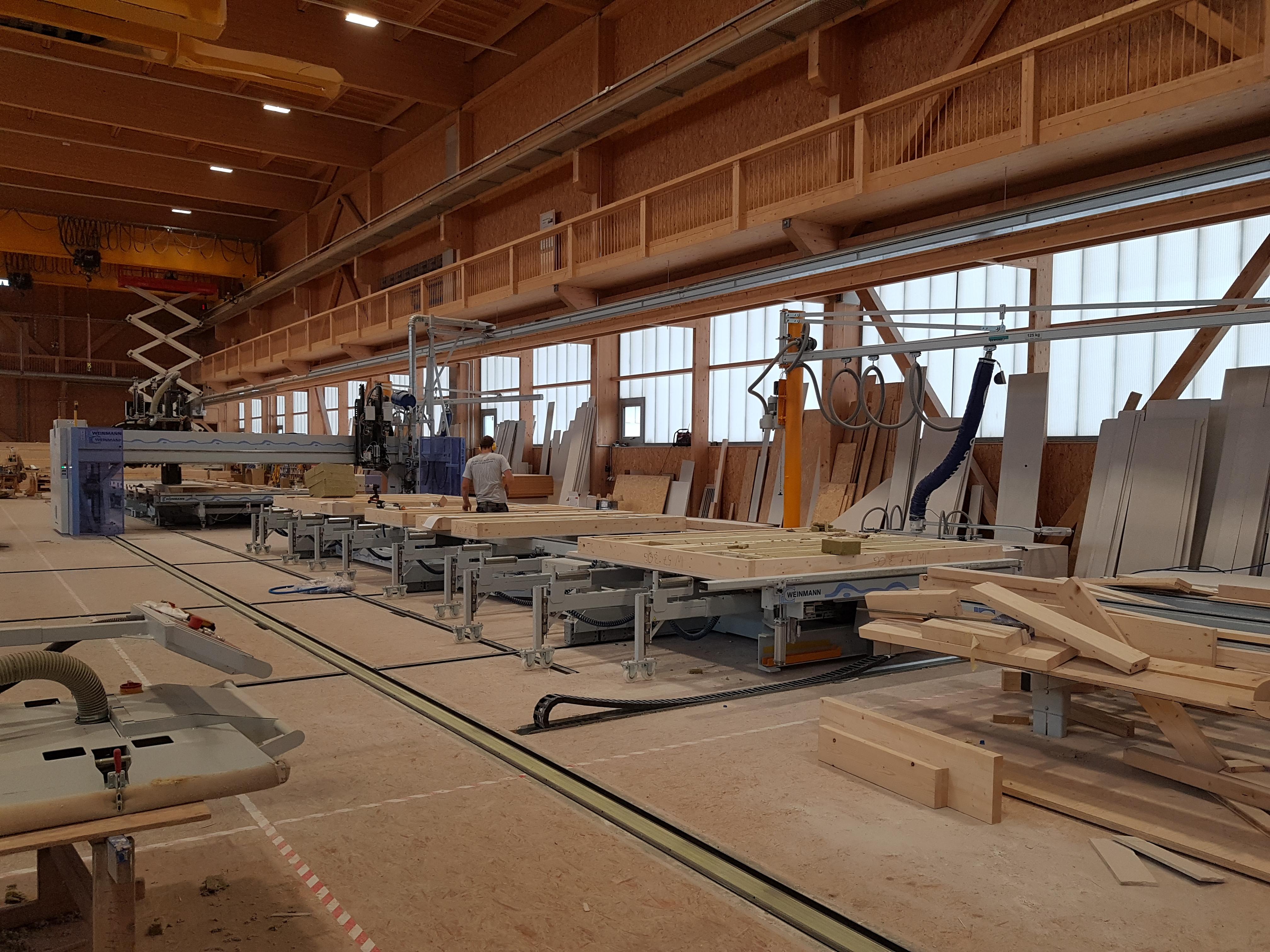 Bad Horn Hotel & Spa: Vorproduktion Elemente für Modulbau   Krattiger Holzbau AG Amriswil