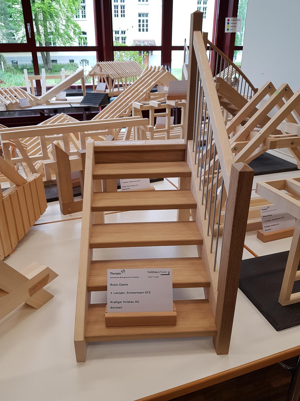 Modellwettbewerb 2019 GBZ Weinfelden: Modell «Treppe» von Robin Eberle l Krattiger Holzbau AG Amriswil