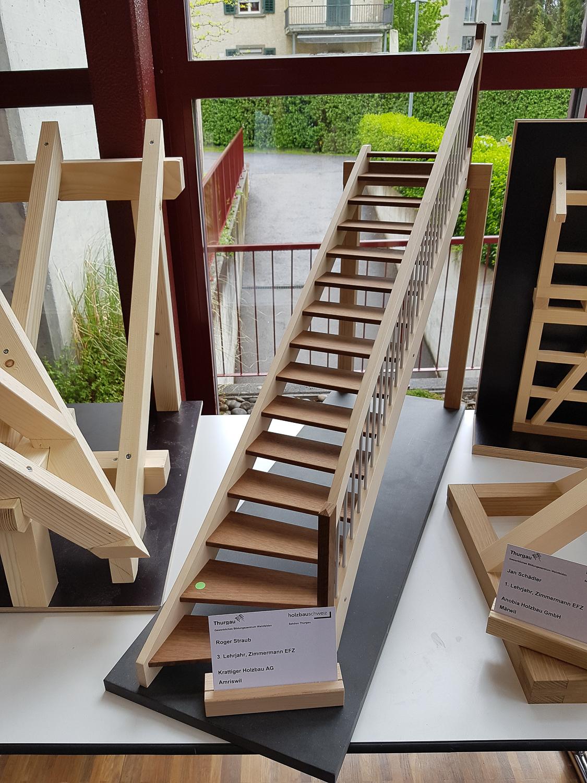 Modellwettbewerb 2019 GBZ Weinfelden: Modell «Treppe» von Roger Straub l Krattiger Holzbau AG Amriswil