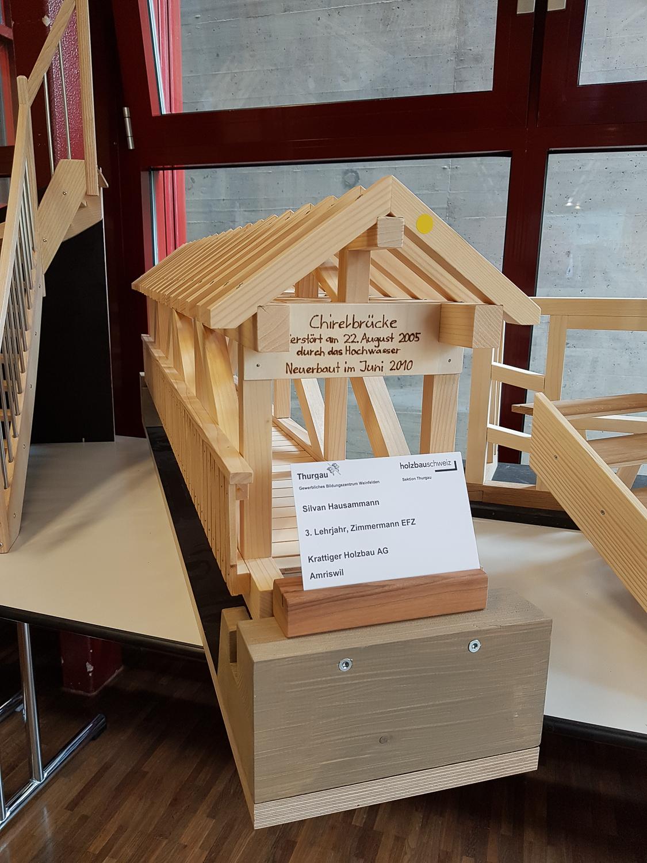 Modellwettbewerb 2019 GBZ Weinfelden: Modell «Brücke» von Silvan Hausammann l Krattiger Holzbau AG Amriswil