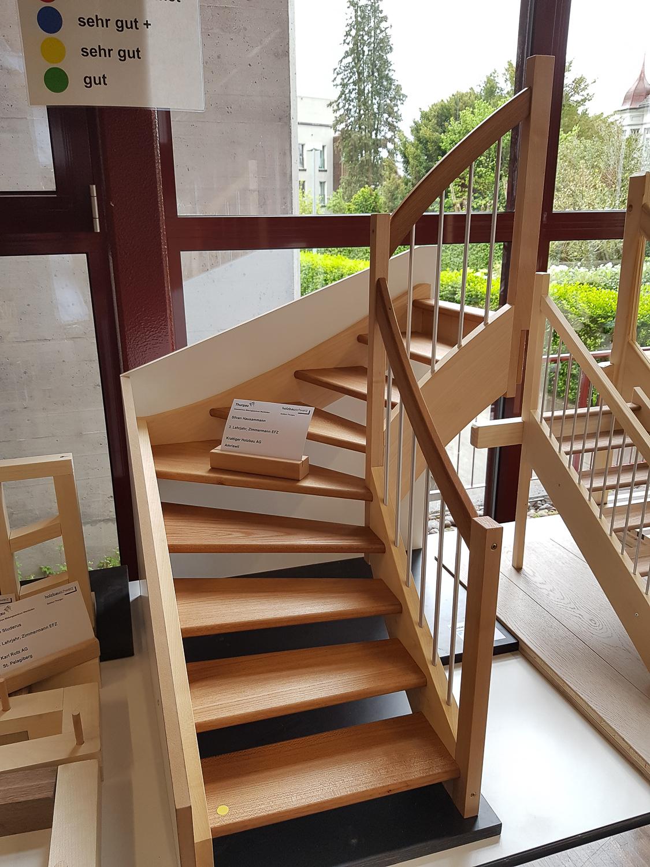 Modellwettbewerb 2019 GBZ Weinfelden: Modell «Treppe» von Silvan Hausammann l Krattiger Holzbau AG Amriswil