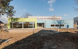 Kindergarten Mühlebach Amriswil: Aussenansicht Südfassade | Krattiger Holzbau AG Amriswil