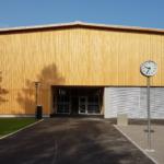 AZ Galgenholz Frauenfeld im Minergie-P-Standard: Aussenansicht Eingangsbereich | Krattiger Holzbau AG Amriswil