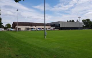 Sportanlage Tellenfeld Amriswil | Aussenansicht Neubau Dreifachhalle | Krattiger Holzbau AG Amriswil