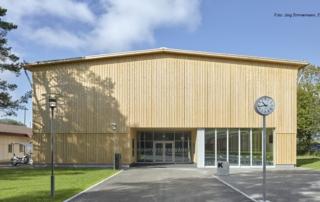 Eingangsbereich Ausbildungszentrum Galgenholz Frauenfeld | Krattiger Holzbau AG Amriswil