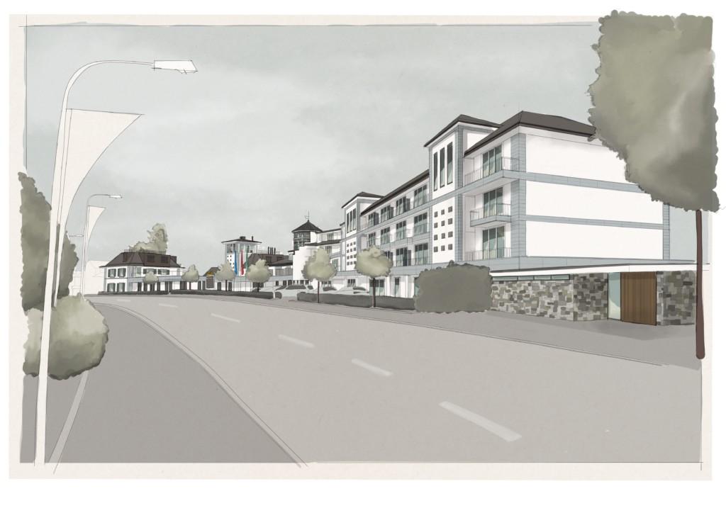 Bad Horn Hotel & Spa: Visualisierung Modulbau | Krattiger Holzbau AG Amriswil