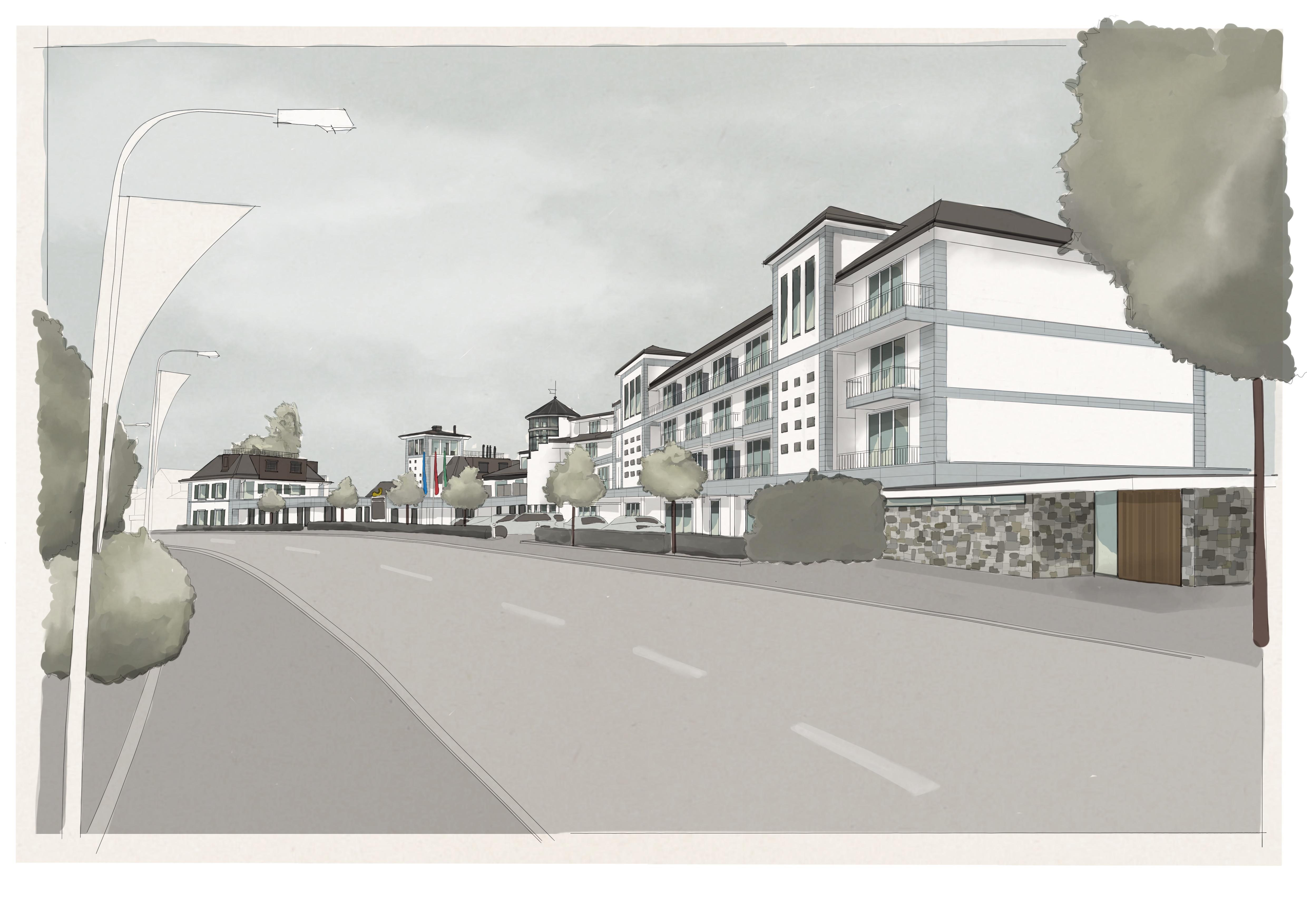 Bad Horn Hotel & Spa: Visualisierung Modulbau   Krattiger Holzbau AG Amriswil
