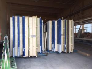 Zeitersparnis dank Vorfertigung: Transportbereite Elemente für das ZiK Arbon | Krattiger Holzbau AG Amriswil