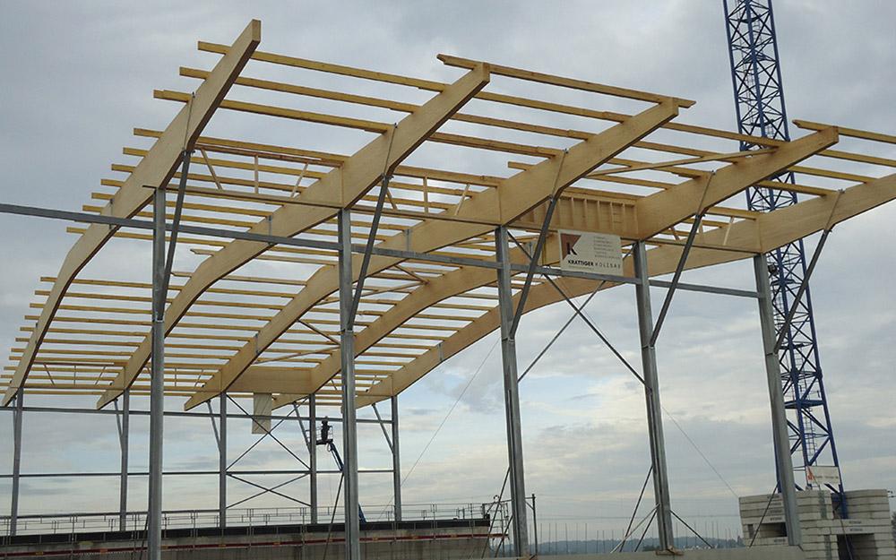 Muldenzentrale Amriswil: Industriebau aus Holz | Krattiger Holzbau AG Amriswil