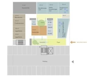 Vorstudie: Flächenschema des Bauprojekts | Krattiger Holzbau AG Amriswil (© Innoraum)
