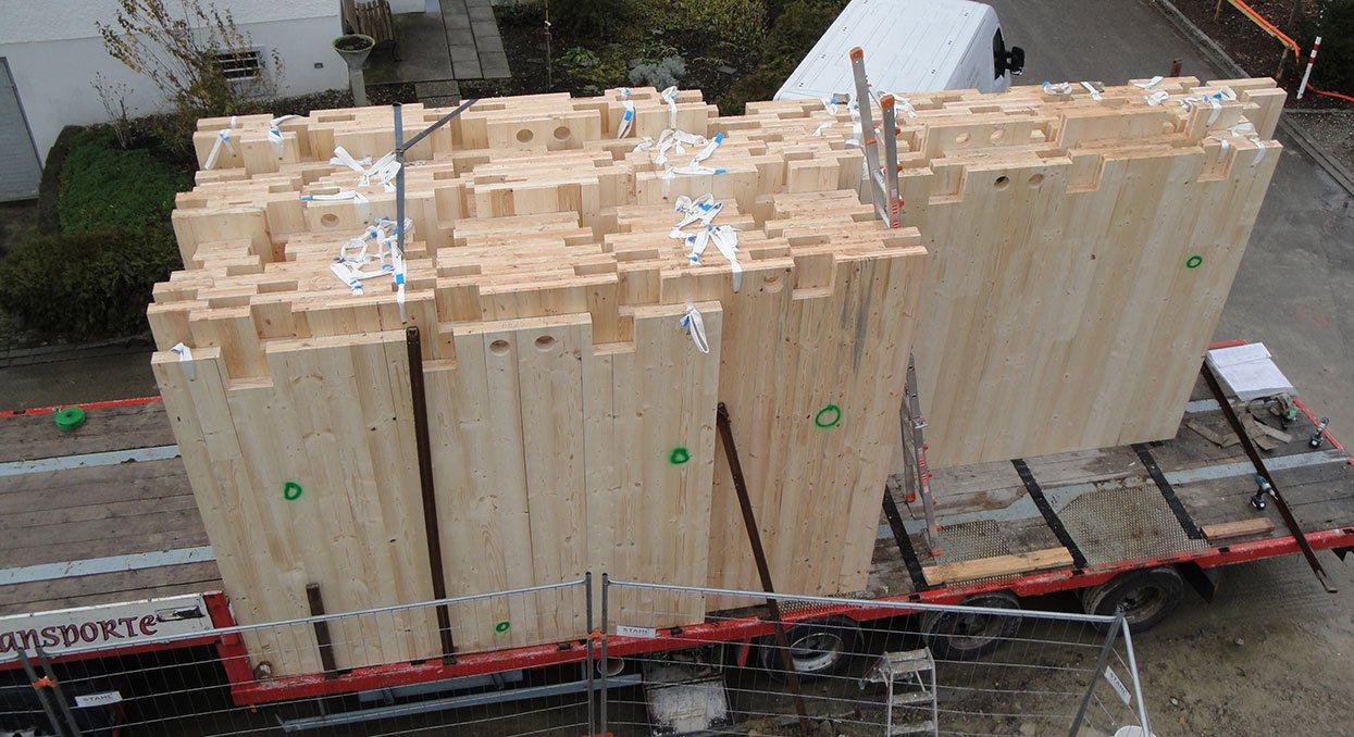 Vorgefertigte Holz-Elemente | Krattiger Holzbau AG Amriswil