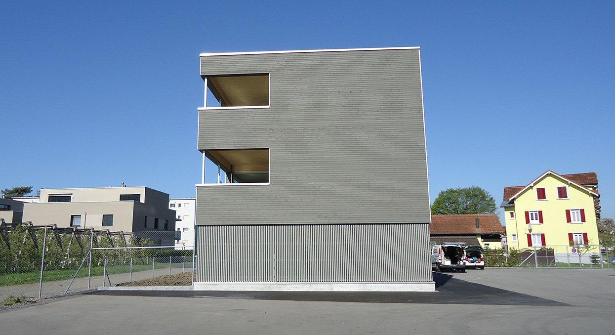 Fassade aus Holz | Krattiger Holzbau AG Amriswil