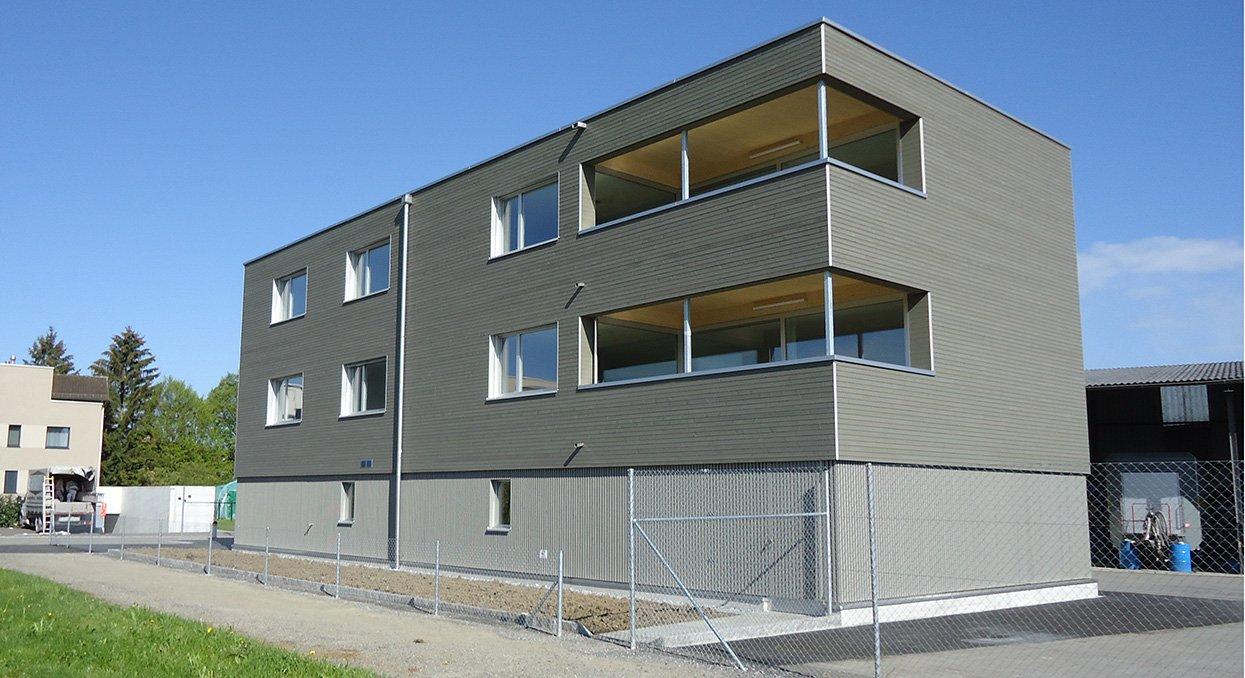 Holzfassade | Krattiger Holzbau AG Amriswil